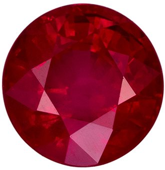1.07 carats Rich Red Ruby Loose Gemstone, Open Rich Red, 5.6 mm Round Cut
