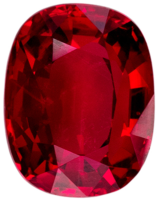 Attractive Untreated GRS Certified Ruby Loose Gem, 1.07 carats, Rich Blood Red, Cushion Cut, 6.47 x 5.07 x 3.16 mm