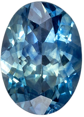 Calibrated Size Sapphire Loose Gem, 6.9 x 5mm, Teal Blue Green, Oval Cut, 1.08 carats