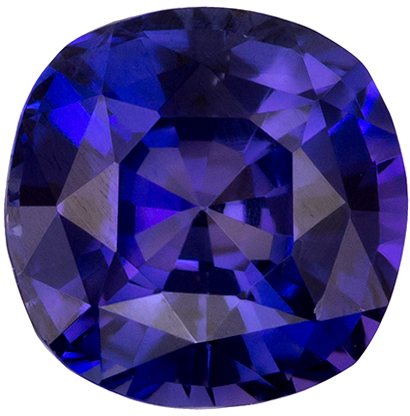 1.08 carats Purple Sapphire Loose Gemstone in Cushion Cut, Rich Violet Purple, 5.7 mm