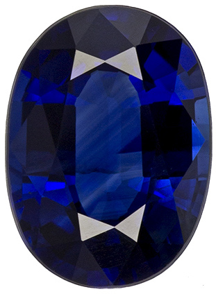 1.09 carats Blue Sapphire Loose Gemstone in Oval Cut, Navy Blue, 7 x 5.1 mm