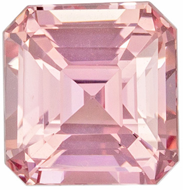 Bright & Lively Untreated Emerald Shape Peach Sapphire Loose Gem, 1.09 carats, Orangey Pink Peach Color, 5.46 x 5.23 x 3.96 mm, GIA Certified