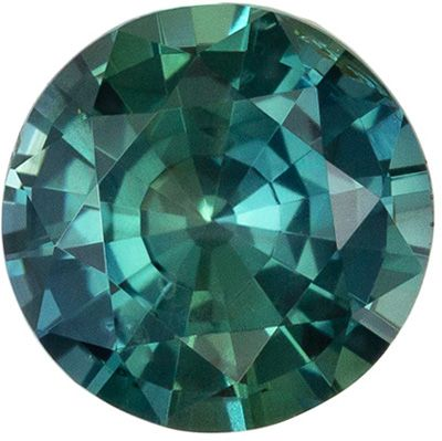 Desirable GIA Certified No Treatment Sapphire Loose Gem 1.1 carats, Round Cut, Vivid Teal Blue Green, 6.48 x 6.39 x 3.65 mm