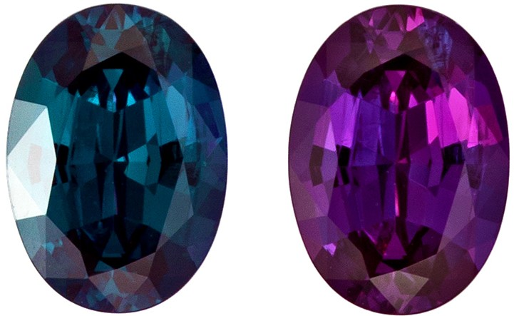 Natural Alexandrite Gemstone 100% Color Change, 1.11 carats, Oval Cut, 7.64 x 5.46 x 3.4 mm Gubelin Cert
