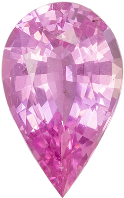 Lovely Rare Untreated GIA Certified Sapphire Genuine Gem, 1.11 carats, Baby Pink, Pear Cut, 8.75 x 5.42 x 3.42 mm