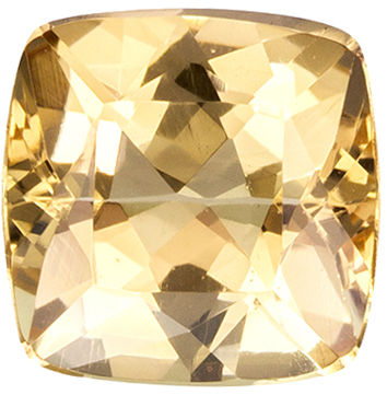 1.12 carats Precious Topaz Loose Gemstone in Cushion Cut, Peachy Golden, 6 mm