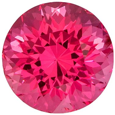 So Pretty 1.12 carats Pink Spinel Round Genuine Gemstone, 5.9 mm