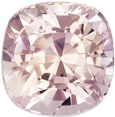 1.13 Carat GIA Unheated Peach Sapphire Gemstone in Cushion Cut, Bright Medium Peach, 5.5 x 5.4 mm - SOLD