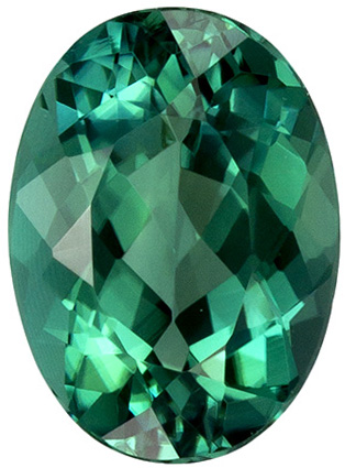 1.13 carats Oval Cut Blue Green Tourmaline Loose Gem, Medium Tealish Blue, 7.8 x 5.7 mm - SOLD