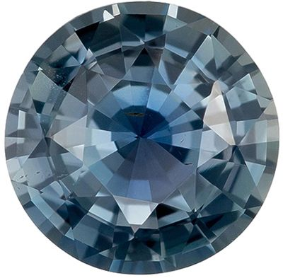 Excellent Untreated Blue Green Sapphire Genuine Loose Gemstone in Round Cut, 1.14 carats, Teal Blue Green, 6.35 x 6.4 mm - GIA Certificate