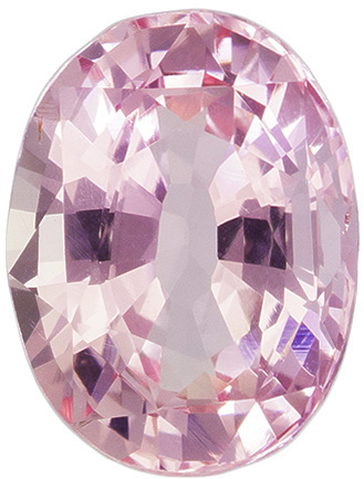 1.14 Carat Unheated Oval Padparadscha Sapphire with GIA Certificate in Pink Orange, 7.3 x 5.5 mm
