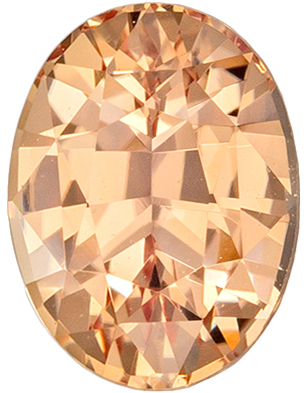 Lovely Untreated Oval Shape Padparadscha Sapphire Gemstone, 1.14 carats, Peachy Pink Color, 7.01 x 5.28 x 3.81 mm, GIA Certified