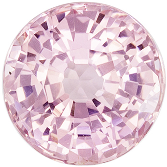 Highly Requested Unheated GIA Certified Sapphire Loose Gem, 6.06 x 6.18 x 3.81 mm, Peach Tinged Pink, Round Cut, 1.14 carats