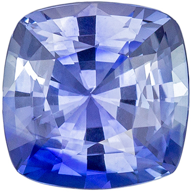 Very Desirable Sapphire Loose Gem, 6 mm, Cornflower Blue, Cushion Cut, 1.15 carats
