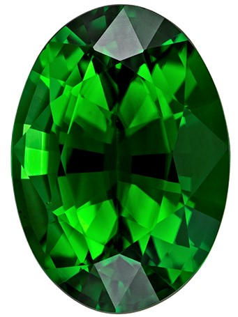 Unique Chrome Tourmaline Faceted Gem, 1.15 carats, Oval Cut, 8 x 5.6  mm , Super Low Price