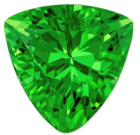 Quality Chrome Tourmaline Gemstone, 1.15 carats, Trillion Cut, 7 mm, A Selected Gem