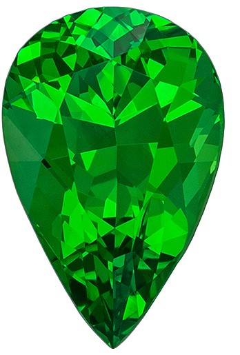 Natural Stunning Green Tsavorite Garnet Loose Gem, 1.15 carats, Pear Cut, 8.4 x 5.4  mm , Great Deal on This Gem