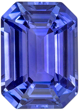 Great Sapphire Loose Gem, 6.9 x 5mm, Medium Rich Blue, Emerald Cut, 1.17 carats