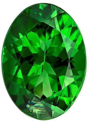 Beautiful Chrome Tourmaline Faceted Gem, 1.17 carats, Oval Cut, 7.9 x 5.8  mm , Amazing Low Price