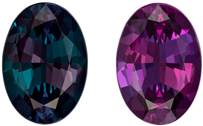 Fine Gem Gubelin Certified Alexandrite Quality Gem, 1.17 carats, Teal to Eggplant, Oval Cut, 8.04 x 5.62 x 3.49 mm