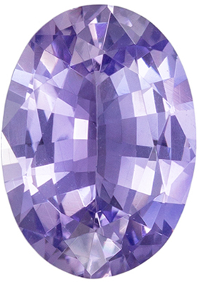 Great Sapphire Natural Gem, 1.17 carats, Lavender Purple Oval Cut, 7.9 x 5.6mm