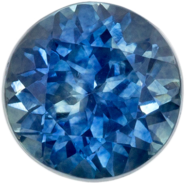 Highly Requested Sapphire Genuine Gem, 5.9 mm, Medium Teal Blue, Round Cut, 1.18 carats