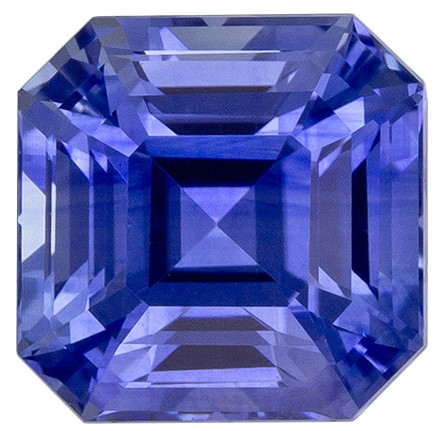 Loose Natural Blue Sapphire Loose Gem, 1.18 carats, Emerald Cut, 5.55 x 5.51 x 4.2 mm mm , Super Fine Stone