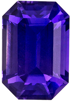 1.18 carats - GIA No Treatment Purple Sapphire Loose Gem, Rich Purple, 7.0 x 4.9 mm Emerald Cut