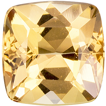 1.19 carats Precious Topaz Loose Gemstone in Cushion Cut, Peach Gold, 6 mm