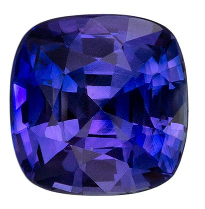 Perfect Purple Sapphire Gemstone, 1.19 Carats, Vivid Purple Color, Clean and Very Well Cut in 6.1mm Size