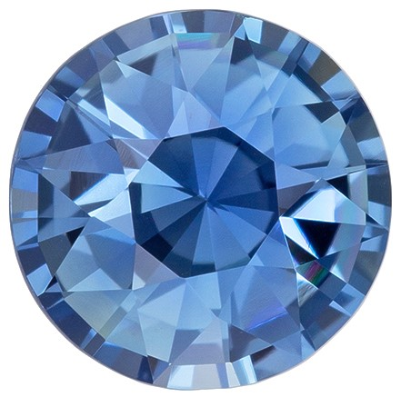 Must See Blue Green Sapphire Genuine Gem, 1.2 carats, Round Cut, 6.5 mm , Great Deal on This Gem