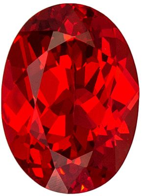 Natural Loose 1.21 carats Fire Red Spinel Oval Genuine Gemstone, 7.7 x 5.6 mm