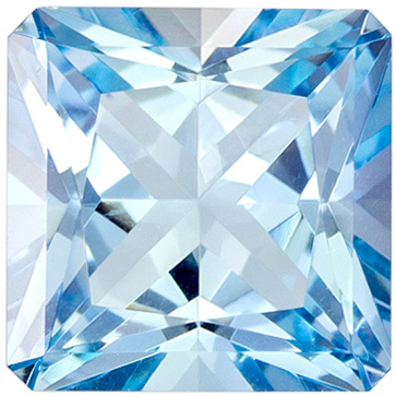 Beautiful Radiant 1.22 carat Intense Blue Aquamarine Gem in 6.6mm Size