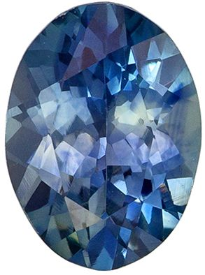 Must See 1.22 carats Blue Green Sapphire Oval Genuine Gemstone, 7.5 x 5.5 mm