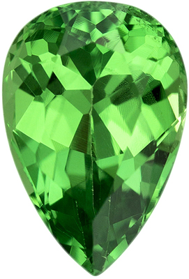 Tsavorite Loose Gemstone, Pear Cut, 7.9 x 5.3 mm, 1.22 carats