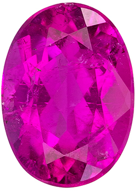 Great Price on 1.22 carat Rubellite Tourmaline Gemstone in Oval Cut 7.8 x 5.6 mm