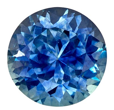 Stunning 1.23 Carat Blue Green Sapphire Round Cut Gemstone with Touch of Teal in 6.0 mm Size