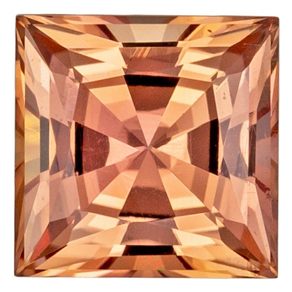 Natural Imperial Topaz Loose Gem, 1.23 carats, Princess Cut, 6 mm , Must See This Gemstone