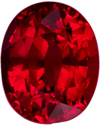 1.24 carats - GIA Certified Killer Ruby Untreated Oval Cut  with Open Fiery Rich Red Color in 6.7 x 5.4 mm Fiery Oval Gem