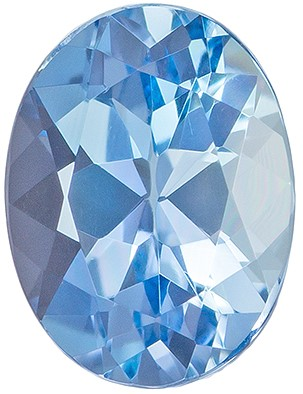 Striking Aquamarine Gemstone 1.26 carats, Oval Cut, 8 x 6  mm Very Fine Rich Blue Color