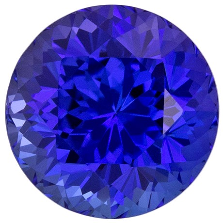 Must See Blue Purple Tanzanite Genuine Stone, 1.26 carats, Round Cut, 6.1 mm , Great Low Price