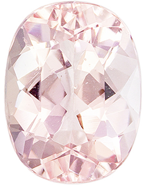 Lovely Morganite Loose Gem, 1.26 carats, Medium Pink Peach, Oval Cut, 8 x 6mm