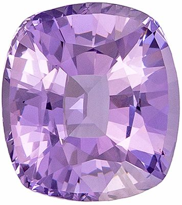 Natural Loose 1.26 carats Purple Spinel Cushion Genuine Gemstone, 6.7 x 6 mm