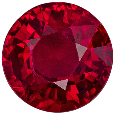 Wonderful Quality Ruby Natural Gem, 6.2 mm, Open Rich Red, Round Cut, 1.26 carats