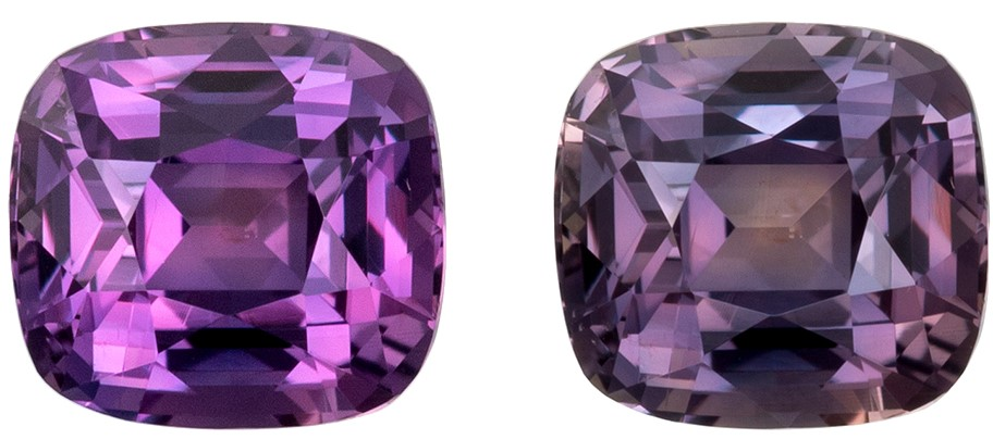 Must See Color Change Sapphire Faceted Gem, 1.27 carats, Cushion Cut, 6 x 5.6  mm , Superb Stone
