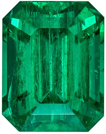 Deal on Fine Emerald Gemstone Emerald Cut, Rich Color and Excellent Clarity, 6.7 x 5.3 mm, 1.27 carats