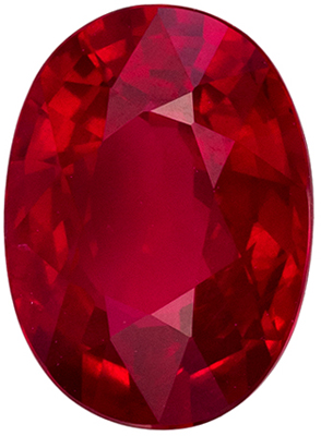 Gorgeous Unheated GIA Certified Ruby Natural Gem, 7.55 x 5.52 x 3.5 mm, Pigeons Blood Red, Oval Cut, 1.27 carats