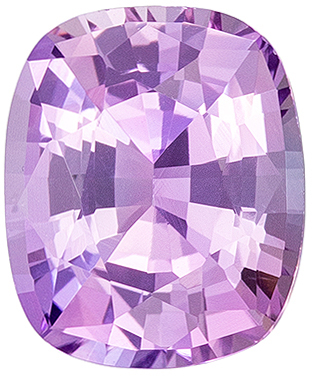 Bargain Price in Delicate Lavender Purple 1.30 carat Sapphire Cushion Cut with GIA No Heat