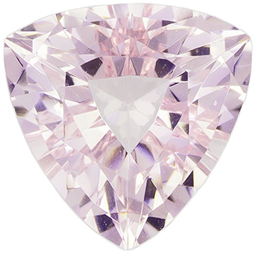 1.31 carats Pretty Morganite Gemstone in Trillion Cut, Light Pink Peach, 7.5 mm Gemstone