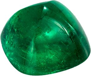 Loose Stunning 1.31 carats Green Emerald Cabochon Genuine Gemstone, 6.7 x 6.6 mm